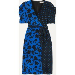 Alice Olivia - Siona Wrap-effect Printed Silk Crepe De Chine Dress - Blue found on MODAPINS from NET-A-PORTER for USD $535.00