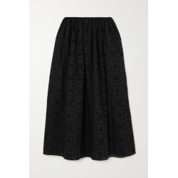 Matteau - + Net Sustain Broderie Anglaise Organic Cotton-poplin Skirt - Black found on MODAPINS from NET-A-PORTER UK for USD $609.87