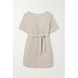 Lucy Folk - Belted Cotton-blend Terry Mini Dress - Ecru found on MODAPINS from NET-A-PORTER UK for USD $297.28