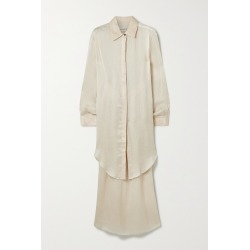 MARA HOFFMAN - + Net Sustain Agata Plissé-tencel Luxe Crepon Shirt And Skirt Set - Ecru found on Bargain Bro India from NET-A-PORTER for $525.00