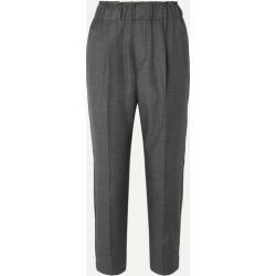 Brunello Cucinelli - Cropped Bead-embellished Wool Tapered Pants - Gray found on Bargain Bro UK from NET-A-PORTER UK