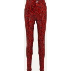Stand Studio - + Pernille Teisbaek Tabitha Zebra-print Faux Leather Skinny Pants - Red