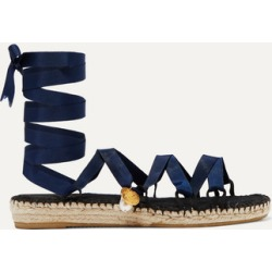 Alighieri - Lion And Pearl Embellished Grosgrain Espadrilles - Navy found on MODAPINS from NET-A-PORTER for USD $190.00