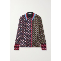 Alice Olivia - Willa Printed Silk Shirt - Navy found on MODAPINS from NET-A-PORTER for USD $231.00