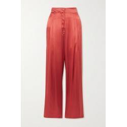 Le Kasha - Sansha Silk-satin Wide-leg Pants - Papaya found on MODAPINS from NET-A-PORTER UK for USD $800.98