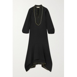 Tory Burch - Belted Asymmetric Embroidered Crepe Dress - Black found on Bargain Bro UK from NET-A-PORTER UK