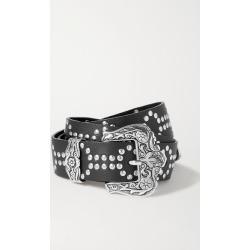 Black & Brown - Lara Studded Textured-leather Belt - S found on Bargain Bro UK from NET-A-PORTER UK