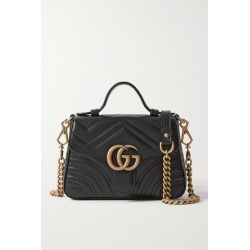 Gucci - Gg Marmont Mini Quilted Leather Shoulder Bag - Black found on MODAPINS from NET-A-PORTER UK for USD $1690.05