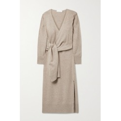 Jonathan Simkhai - Skyla Knitted Wrap Midi Dress - Taupe found on MODAPINS from NET-A-PORTER UK for USD $569.41