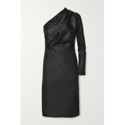 Dodo Bar Or - Gorgiee One-shoulder Ruched Leather Dress - Black found on MODAPINS from NET-A-PORTER for USD $1240.00