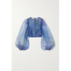 Beaufille - Nebula Organza Blouse - Blue found on MODAPINS from NET-A-PORTER UK for USD $341.92