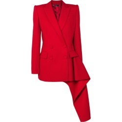 Alexander McQueen - Asymmetric Double-breasted Wool-blend Blazer - Red found on MODAPINS from NET-A-PORTER UK for USD $2952.12