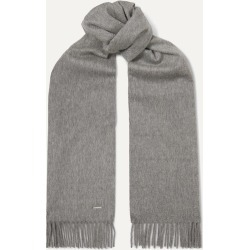 Loro Piana - Sciarpa Fringed Cashmere Scarf - Gray found on MODAPINS from NET-A-PORTER for USD $495.00