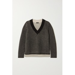 Akris - Cashmere And Cotton-blend Sweater - Black found on MODAPINS from NET-A-PORTER for USD $1043.00