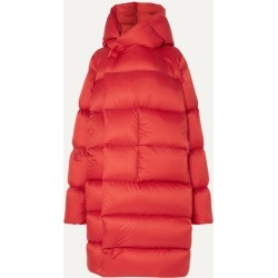 Rick Owens - Oversized Hooded Quilted Shell Down Coat - Red found on Bargain Bro UK from NET-A-PORTER UK