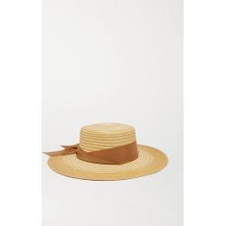 Sensi Studio - Cordovez Grosgrain-trimmed Two-tone Toquilla Straw Hat - Tan found on Bargain Bro UK from NET-A-PORTER UK