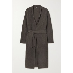Akris - Belted Ribbed Cashmere Cardigan - Dark brown found on MODAPINS from NET-A-PORTER UK for USD $2826.98