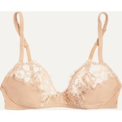 La Perla - Souple Lace And Stretch Cotton-blend Jersey Soft-cup Bra - Neutral found on Bargain Bro India from NET-A-PORTER for $135.00