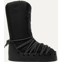 Fendi - Logo-appliquéd Jersey, Leather And Rubber Snow Boots - Black found on Bargain Bro Philippines from NET-A-PORTER for $850.00