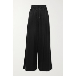 Alice Olivia - Kenley Satin-jersey Wide-leg Pants - Black found on MODAPINS from NET-A-PORTER for USD $300.00