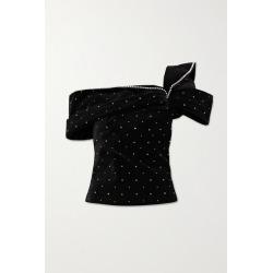 Isabel Marant - Off-the-shoulder Crystal-embellished Velvet Top - Black found on Bargain Bro UK from NET-A-PORTER UK