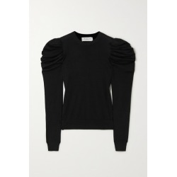 Michael Kors Collection - Tropical Ruched Wool, Silk And Cashmere-blend Sweater - Black found on Bargain Bro India from NET-A-PORTER for $750.00