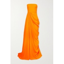 Alex Perry - Reed Draped Crepe Strapless Gown - Orange found on MODAPINS from NET-A-PORTER UK for USD $1424.46