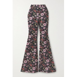 Adam Lippes - Floral-print Cotton-twill Flared Pants - Black found on MODAPINS from NET-A-PORTER for USD $690.00