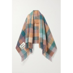 Acne Studios - Fringed Checked Knitted Scarf - Pink found on Bargain Bro UK from NET-A-PORTER UK