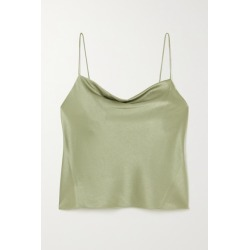 Alice Olivia - Harmon Draped Hammered-satin Camisole - Green found on MODAPINS from NET-A-PORTER for USD $195.00