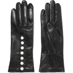 Agnelle - Arielle Leather Gloves - Black found on MODAPINS from NET-A-PORTER UK for USD $154.68