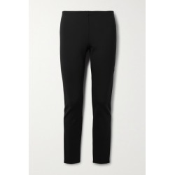 The Row - Woolworth Stretch-ponte Leggings - Black
