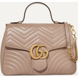 Gucci - Gg Marmont Medium Quilted Leather Shoulder Bag - Beige found on MODAPINS from NET-A-PORTER UK for USD $2516.01