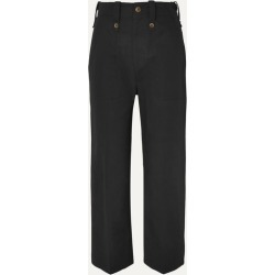 Bassike - Cotton And Linen-blend Drill Wide-leg Pants - Black found on MODAPINS from NET-A-PORTER UK for USD $361.07