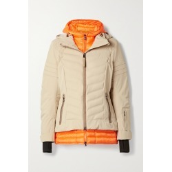 BOGNER - Rikela Hooded Layered Quilted Ski Jacket - Neutrals found on Bargain Bro from NET-A-PORTER for USD $1,330.00