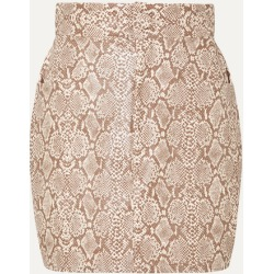Michael Lo Sordo - Snake-effect Faux Leather Mini Skirt - Snake print found on MODAPINS from NET-A-PORTER UK for USD $253.93