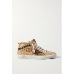 Golden Goose - Midstar Glittered Distressed Suede High-top Sneakers - IT35 found on Bargain Bro UK from NET-A-PORTER UK