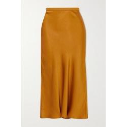 Anine Bing - Bar Silk-satin Midi Skirt - Gold found on MODAPINS from NET-A-PORTER UK for USD $263.73