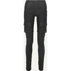 Rick Owens - Cotton Blend-paneled Leather Skinny Pants - Black
