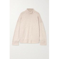 Le Kasha - Suede Oversized Cashmere Turtleneck Sweater - Beige found on MODAPINS from NET-A-PORTER for USD $785.00
