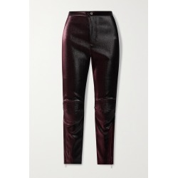 AREA - Lurex Skinny Pants - Burgundy found on Bargain Bro India from NET-A-PORTER for $550.00