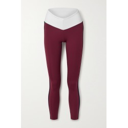 STAUD - + New Balance Striped Stretch Leggings - Burgundy found on Bargain Bro from NET-A-PORTER for USD $83.60