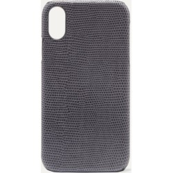 The Case Factory - Lizard-effect Leather Iphone Xr Case - Gray