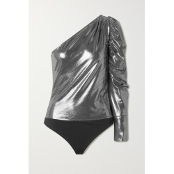 Alix NYC - Dakota One-shoulder Stretch-lamé Bodysuit - Silver found on MODAPINS from NET-A-PORTER UK for USD $146.54