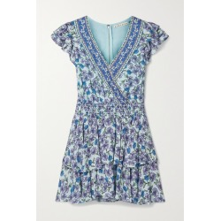 Alice Olivia - Mariska Ruffled Floral-print Voile Playsuit - Blue found on MODAPINS from NET-A-PORTER for USD $350.00