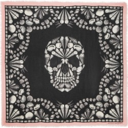 Alexander McQueen - Printed Modal And Wool-blend Scarf - Black found on MODAPINS from NET-A-PORTER UK for USD $367.74