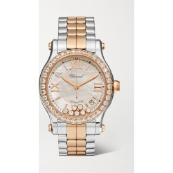 Chopard - Happy Sport Automatic 36mm 18-karat Rose Gold, Stainless Steel, Diamond And Mother-of-pearl Watch found on Bargain Bro Philippines from NET-A-PORTER for $26700.00