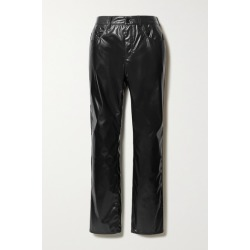MM6 Maison Margiela - Vinyl Straight-leg Pants - Black found on Bargain Bro UK from NET-A-PORTER UK