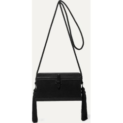 Hunting Season - Square Trunk Satin And Leather Shoulder Bag - Black found on Bargain Bro UK from NET-A-PORTER UK