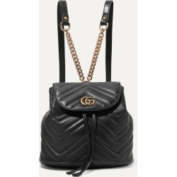 Gucci - Gg Marmont Quilted Leather Backpack - Black found on MODAPINS from NET-A-PORTER UK for USD $1804.41